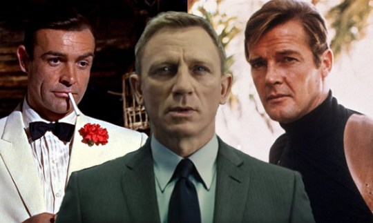 Ages of each James Bond in first and last appearances from ...