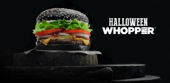 Burger King black bun Halloween whopper