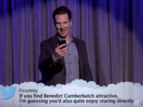 Benedict Cumberbatch hits back at mean tweet comparing him to a 'cat's anus' in the most glorious way