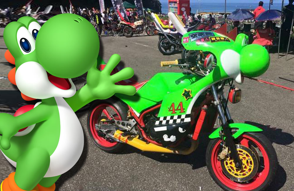 This Super Mario-inspired Yoshi motorbike would massively improve your commute