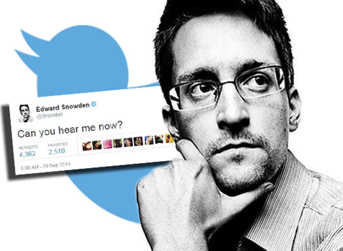 'Can you hear me now?': Edward Snowden just sent his first ever (cryptic) tweet
