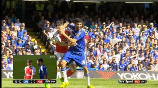 Diego Costa's been banned for three matches (Picture: BT sports)