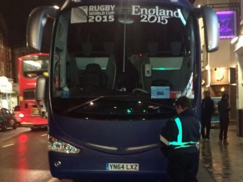 Rugby World Cup 2015: France's Croydon troubles continue as team bus receives parking ticket