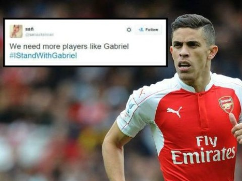 Arsenal fans start #IStandWithGabriel campaign following defender's red card v Chelsea