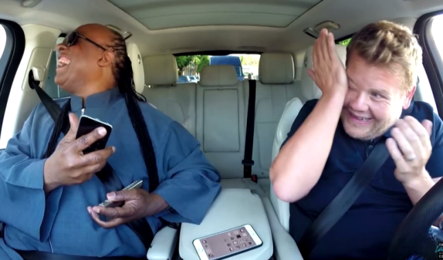 James Corden Carpool Karaoke Stevie Wonder---