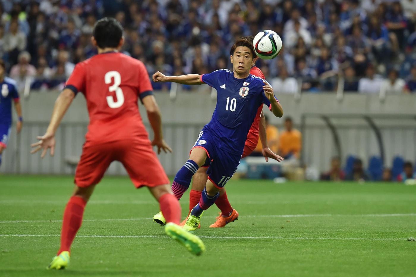 Manchester United misfit Shinji Kagawa scores beautiful 25-yard goal for Japan