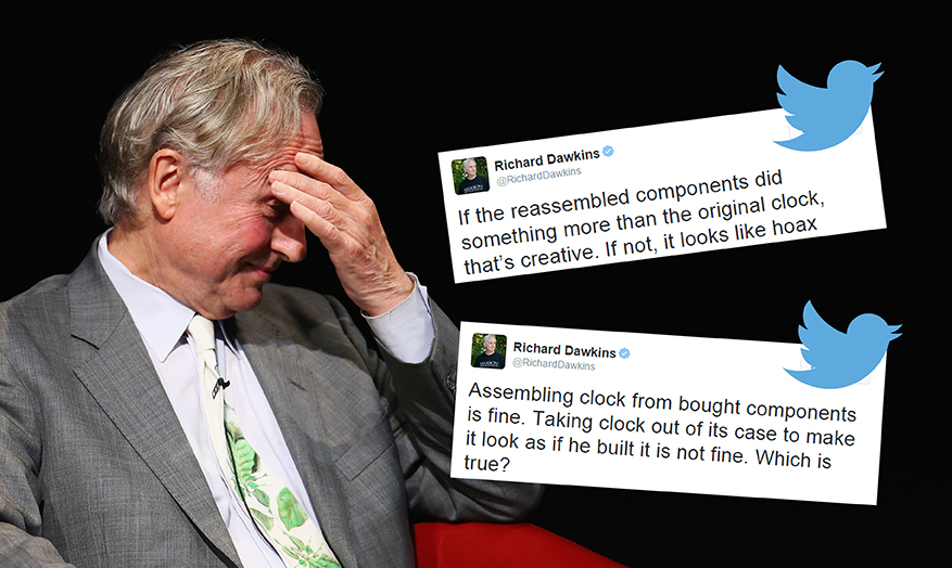 Richard Dawkins thinks Ahmed Mohammed's clock might be a fake