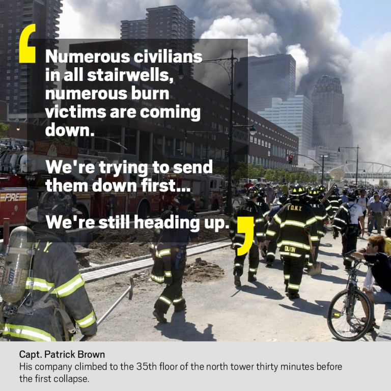 Here are some of the most memorable quotes from the 9/11