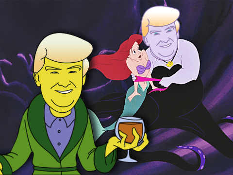 Just Donald Trump re-imagined as some classic cartoon villains