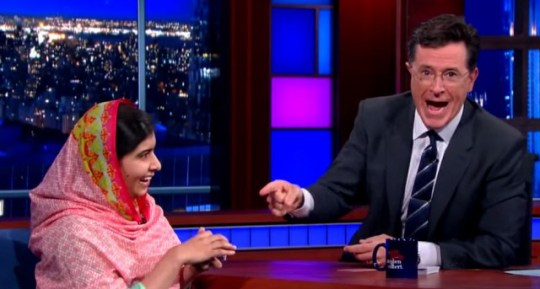 Malala amazes the host (Picture: The Late Show)