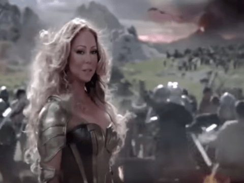 What's going on with Mariah Carey's weird run in the Game Of War advert?