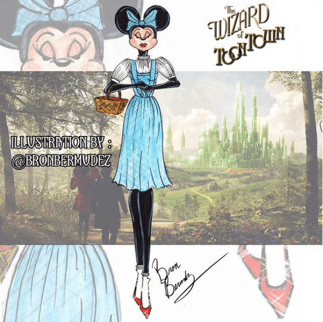Bron Bermudez draws minnie mouse as favourite characters