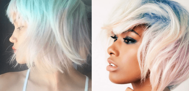 opal hair trend which uses mother of peal sheen and colours