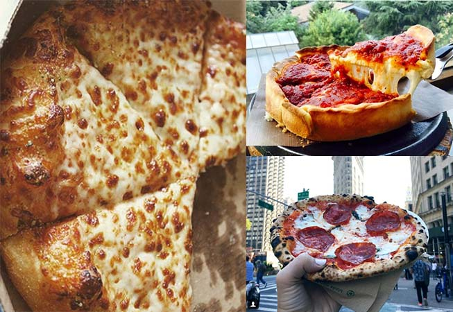 pizza is the most commonly posted food on instagram her'es ones from new york and Chicago style