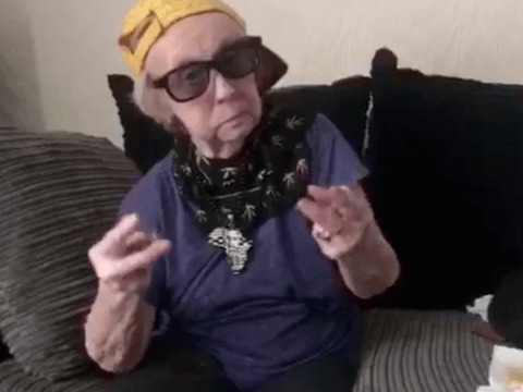 This 93-year-old great, great grandma does Dubsmash better than you