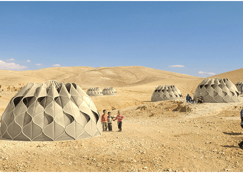 Woman invents tent for refugees which can collect rainwater and store solar energy