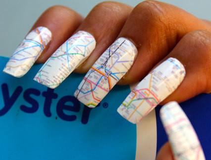 London underground map nail transfers
