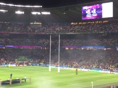England fans sing Swing Low to drown out Wales' team announcement at Rugby World Cup