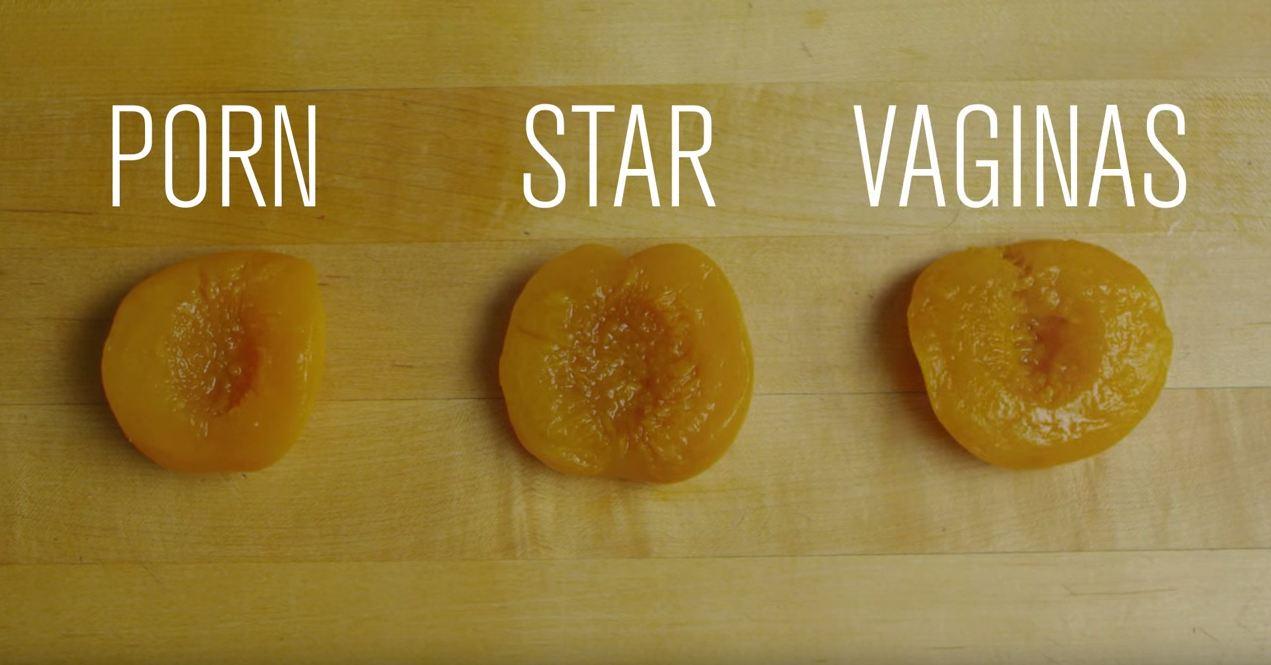 Apricots as porn star vaginas