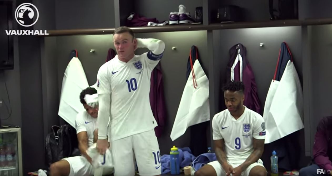 Watch Wayne Rooney's emotional dressing room speech after breaking England all-time goal record