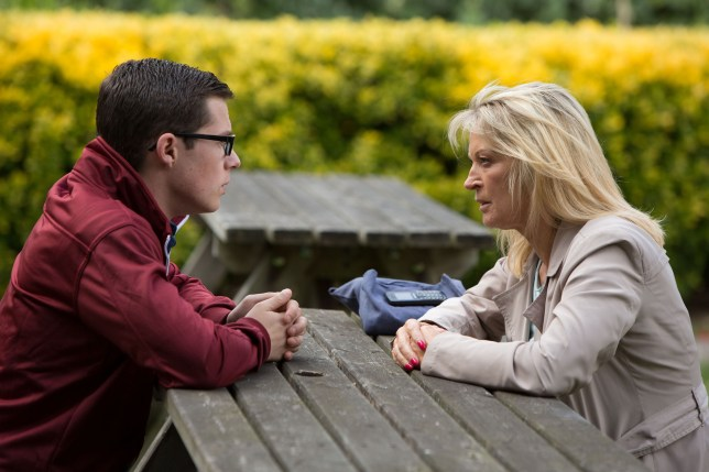 WARNING: Embargoed for publication until 00:00:01 on 06/10/2015 - Programme Name: EastEnders - TX: 13/10/2015 - Episode: 5154 (No. n/a) - Picture Shows: Kathy tells Ben he shouldn't have come to meet Gavin. Ben Mitchell (HARRY REID), Kathy Sullivan (GILLIAN TAYLFORTH) - (C) BBC - Photographer: Jack Barnes