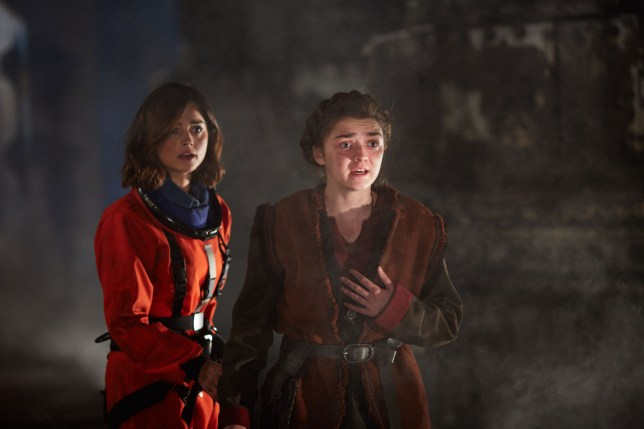Doctor Who series 9, episode 5, The Girl Who Died starring Jenna Coleman as Clara and Maisie Williams as Ashildr