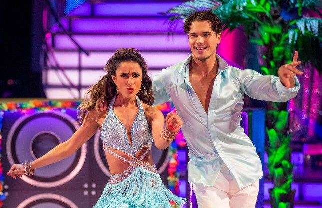 Programme Name: Strictly Come Dancing 2015 - TX: 17/10/2015 - Episode: n/a (No. n/a) - Picture Shows: ++LIVE SHOW++ Anita Rani, Gleb Savchenko - (C) BBC - Photographer: Guy Levy