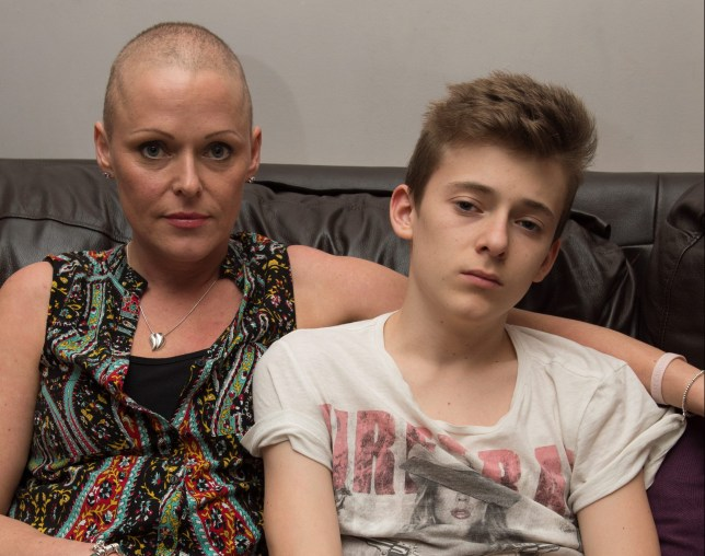 Louise Hamilton, 40 of Doncaster with her son James,14. See Rossparry copy RPYROW: A mum has slammed her son's school for refusing to authorise a term-time holiday - despite it being the only time she could take a break from her treatment for CANCER. Louise Hamilton, 40, was diagnosed with breast cancer on March 4, and underwent an intensive course of chemotherapy and radiotherapy. Her only break in her six-month treatment came the week starting September 7 and her family wanted to take a well-deserved holiday.