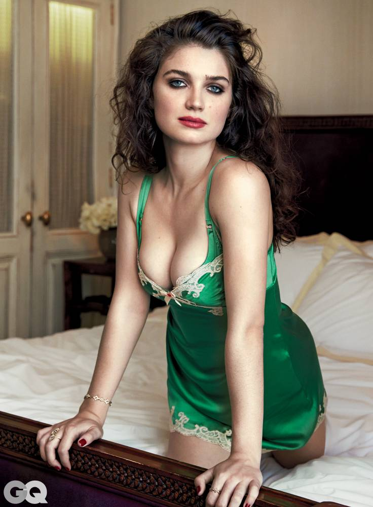 """Must use cover, credit and link back to: http://www.gq.com/gallery/eve-hewson-the-knick-photos Available press image attached along with cover. To use the image you must credit the Bjorn Ioos exclusively for GQ and also run the cover. Eve Hewson may have shed her gentle Irish brogue for a West Virginia twang to play a nurse on Steven Soderbergh's early-1900s period piece The Knick, but Ireland followed her to Brooklyn: She inadvertently moved across from an Irish bar. """"It's the bane of my life,"""" she says. Recently, she broke up a highly sauced bar fight by yelling Shut the fook up! from her balcony. Williamsburg hasn't softened her ability to fight Irish fire with Irish fire. Eve's do-gooder instinct runs in the family: Her dad is Paul Hewson, known colloquially as Bono. Photographer: Loaded on 30/09/2015 at 16:09 Copyright: Provider: Bjorn Iooss"""
