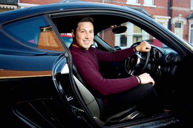 """Matt Myles, sat in his Porsche. A former factory worker who scooped £1million on the lottery spent more than £70,000 on BOOZE - on an eight-month holiday across the globe. See NTI story NTILOTTO. Euromillions winner Matt Myles jetted off on his exuberant round-the-world adventure with a group of friends just 48 hours after winning his fortune. The 28-year-old quit his job as an electrical engineer in a factory to blow £80,000 in less than eight months. And Matt happily admits splurging about £72,000 of that on alcohol and partying in Indonesia, USA, Brazil, Thailand, Ibiza, Spain and Italy with mates and his brother Pete, 27. He said: """"The money has mostly been spent on the pi**. I mean, why wouldn't you? We got through £80,000 in less than eight months. I would say about 90 per cent of that was spent going on the pi**.î"""