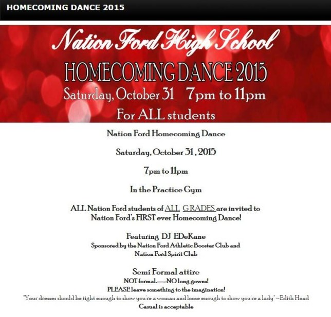 Nation Ford High School homecoming dance criticised for