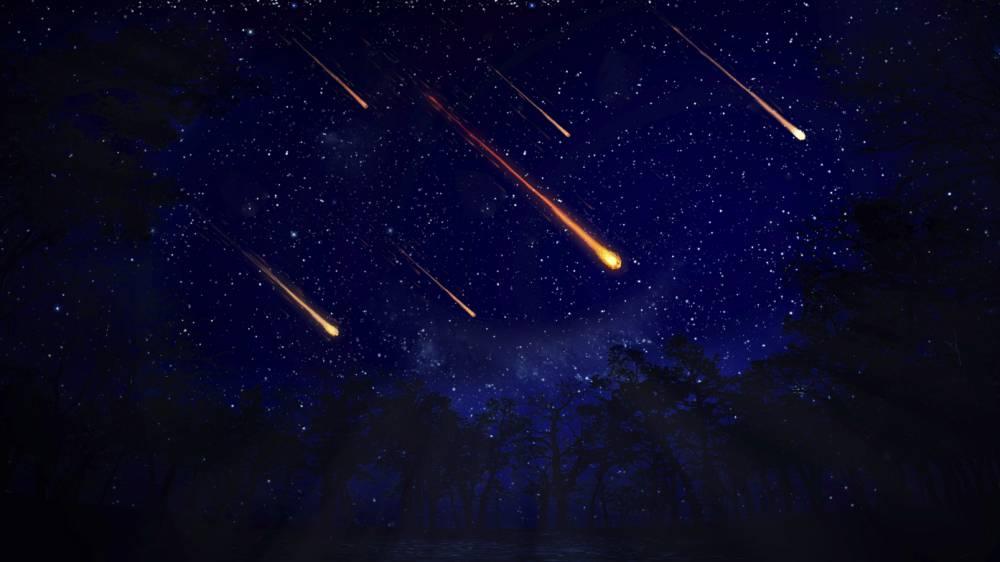 Meteor shower, artwork
