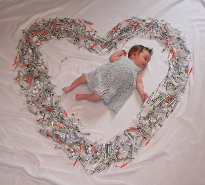 Sher Fertility Powerful photo of baby surrounded by syringes shows how much women who have IVF go through https://www.facebook.com/HaveABaby/photos/a.289079151760.153634.213018641760/10153033752921761/?type=3&theater