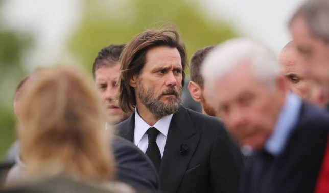 Jim Carrey joins mourners behind the coffin of ex-girlfriend Cathriona White to Our Lady of Fatima Church, in her home village of Cappawhite, Co Tipperary ahead of her funeral. PRESS ASSOCIATION Photo. Picture date: Saturday October 10, 2015. The 30-year-old make-up artist was found dead in a house in Sherman Oaks, California, on September 28. See PA story FUNERAL White. Photo credit should read: Niall Carson/PA Wire