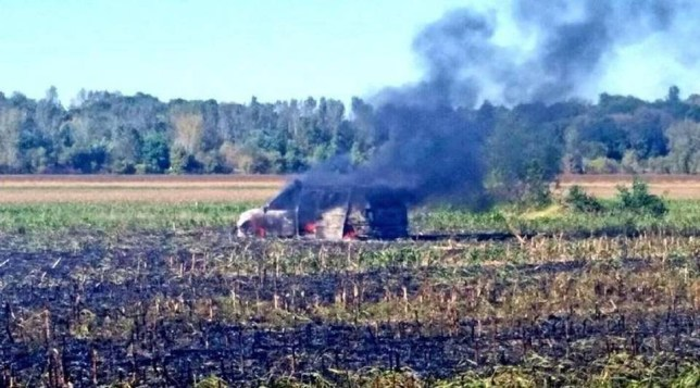 Man tries to put out garbage fire by driving over it in a van loaded with ammunition Source: Clay County Sheriff's Office