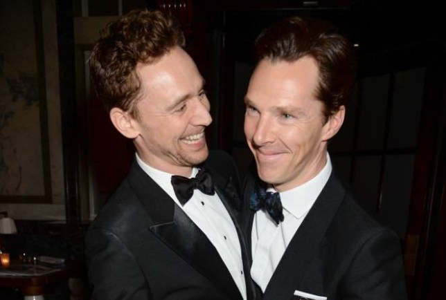Mandatory Credit: Photo by Richard Young/REX Shutterstock (4419632av).. Tom Hiddleston and Benedict Cumberbatch.. The Weinstein Company, Entertainment Film Distributors, Studiocanal 2015 BAFTA after party in partnership with Jimmy Choo & Grey Goose at Rosewood London, Britain - 08 Feb 2015.. ..