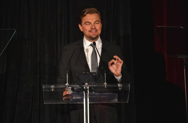 NEW YORK, NY - OCTOBER 15: Leonardo DiCaprio speaks onstage at the DGA Honors 2015 Gala on October 15, 2015 in New York City. (Photo by Larry Busacca/Getty Images for DGA)