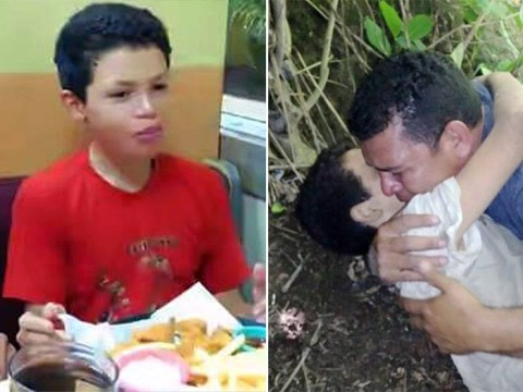 Heartbreaking moment father finds son, 12, dying at foot of bridge after being thrown off for refusing to kill bus driver