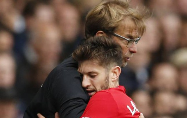"""Football - Tottenham Hotspur v Liverpool - Barclays Premier League - White Hart Lane - 17/10/15 Liverpool manager Juergen Klopp hugs Adam Lallana as he is substituted Action Images via Reuters / John Sibley Livepic EDITORIAL USE ONLY. No use with unauthorized audio, video, data, fixture lists, club/league logos or """"live"""" services. Online in-match use limited to 45 images, no video emulation. No use in betting, games or single club/league/player publications. Please contact your account representative for further details."""