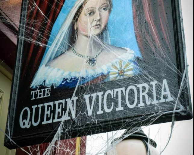 WARNING: Embargoed for publication until 00:00:01 on 20/10/2015 - Programme Name: EastEnders - TX: 30/10/2015 - Episode: 5164 (No. n/a) - Picture Shows: The Queen Vic dressed for Halloween. - (C) BBC - Photographer: Kieron McCarron