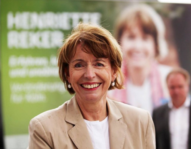 """Picture taken on July 30, 2015 shows the candidate for mayor's election Henriette Reker in Cologne, western Germany. The mayoral candidate active in helping refugees was seriously wounded on October 17, 2015 in what police described as a stabbing with a """"racist political"""" motive, heaping further pressure on Chancellor Angela Merkel over the migrant crisis. AFP PHOTO / DPA / OLIVER BERG GERMANY OUT (Photo credit should read OLIVER BERG/AFP/Getty Images)"""