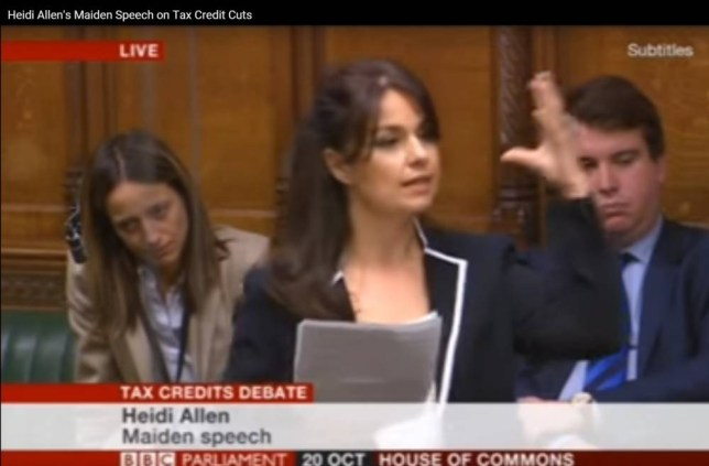 Heidi Allen, New Tory MP, Accuses George Osborne Of 'Betrayal' Over Tax Credits In Maiden Commons Speech