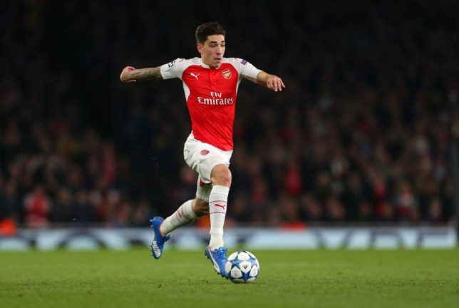 LONDON, ENGLAND - OCTOBER 20: Hector Bellerin of Arsenal during the UEFA Champions League match between Arsenal and Bayern Munich at the Emirates Stadium on October 20, 2015 in London, United Kingdom. (Photo by Catherine Ivill - AMA/Getty Images)