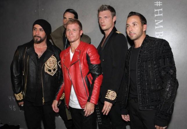 Mandatory Credit: Photo by Jenna Greene/WWD/REX Shutterstock (5280372an) The Backstreet Boys Balmain x H&M Collection Launch, New York, America - 20 Oct 2015