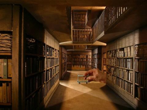 This man has created a miniature museum of tiny movie set replicas