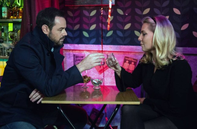 WARNING: Embargoed for publication until 00:00:01 on 27/10/2015 - Programme Name: EastEnders - TX: 02/11/2015 - Episode: 5166 (No. n/a) - Picture Shows: Mick and Ronnie talk. Mick Carter (DANNY DYER), Ronnie Mitchell (SAMANTHA WOMACK) - (C) BBC - Photographer: Kieron McCarron