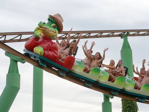 Naked rollercoaster riders fail to break world record