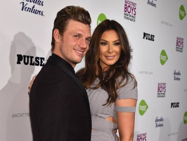 """FILE - OCTOBER 27: Singer Nick Carter is expecting his first child with his wife, Lauren Kitt. HOLLYWOOD, CA - JANUARY 29: Singer Nick Carter and Lauren Kitt attend the premiere of Gravitas Ventures' """"Backstreet Boys: Show 'Em What You're Made Of"""" at on January 29, 2015 in Hollywood, California. (Photo by Alberto E. Rodriguez/Getty Images)"""
