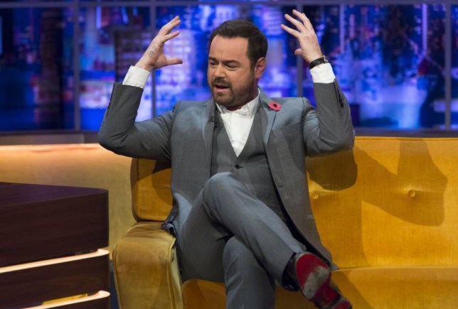 **STRICTLY EMBARGOED UNTIL 00.01 FRIDAY 30TH OCTOBER 2015** Editorial Use Only. No merchandising Mandatory Credit: Photo by Brian J Ritchie/Hotsauce/REX Shutterstock (5324218ap) Danny Dyer 'The Jonathan Ross Show' TV Programme, London, Britain - 31 Oct 2015 PRISCILLA PRESLEY opens up about her marriage to Elvis Presley and reveals she spoke to him days before his untimely death. She also talks about him being germophobic. ELVIS COSTELLO plays a special rendition of ?The King of Rock?s? song, Don?t on Presley?s personal guitar from 1956. DANNY DYER speaks about being desperate for work before his role in EastEnders came up and teases ahead to the Christmas special which sees him wear a wetsuit. ROB BECKETT speaks about becoming a dad!