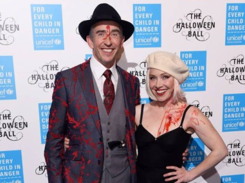 Private couple Steve Coogan and Daisy Lewis make spooky red carpet debut at Halloween bash